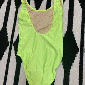 American Apparel Swim - American Apparel Neon Plunging Back Swimsuit